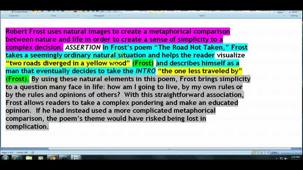 english essay image analysis